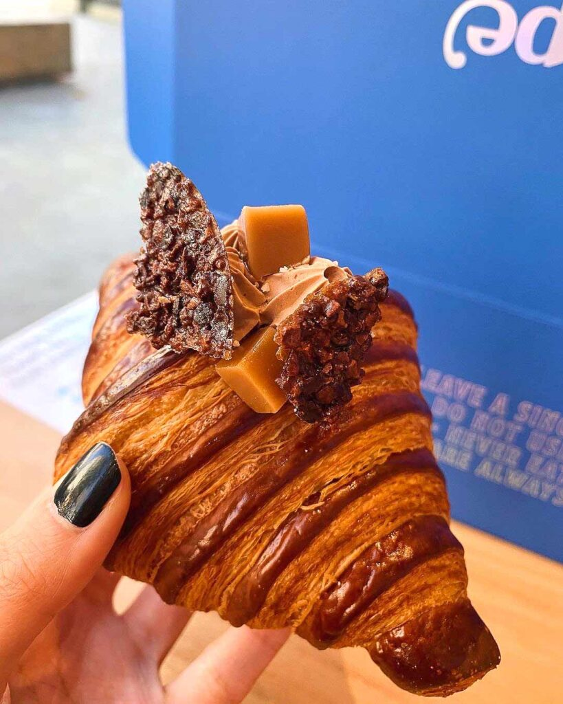 Chocolate Caramel Croissant at Nemesis Coffee Polygon | Hidden Gems Vancouver