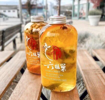 Lemon Flower Fruit Tea at Luckful Nest Natural Drink | Hidden Gems Vancouver