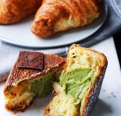Matcha Croissant Cube at Chez Christophe | Hidden Gems Vancouver