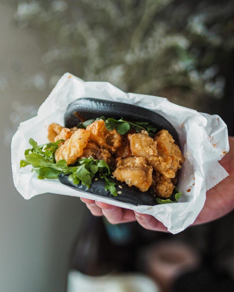 Calamari Fried Bun at Yum Bunnys   Hidden Gems Vancouver