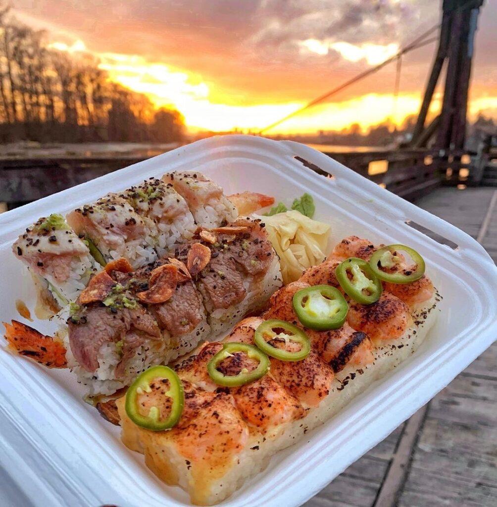 Loku Aburi Combo Platter at Loku Japanese Cuisine | Hidden Gems Vancouver