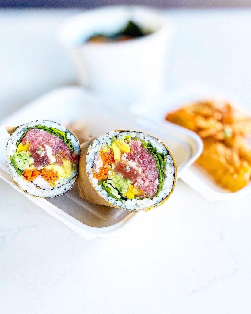Tuna Bro. Sushi Burrito at Simple Bites Inc. | Hidden Gems Vancouver