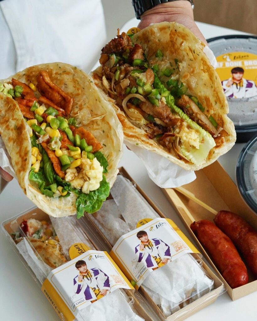 Spicy Sirloin Beef Scallion Pancake Wrap at Liang Crispy Rolls粮手抓   Hidden Gems Vancouver