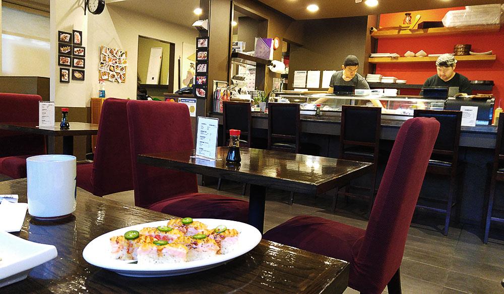 Aburi Salmon Sushi at Victoria Sushi | tryhiddengems.com