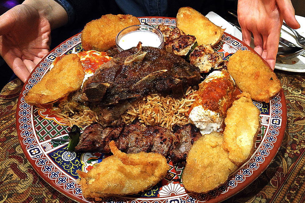 Horsemen's Special Platter at The Afghan Horsemen | tryhiddengems.com