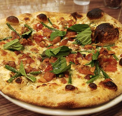 Featured Pizza at Corduroy Pie Company | tryhiddengems.com