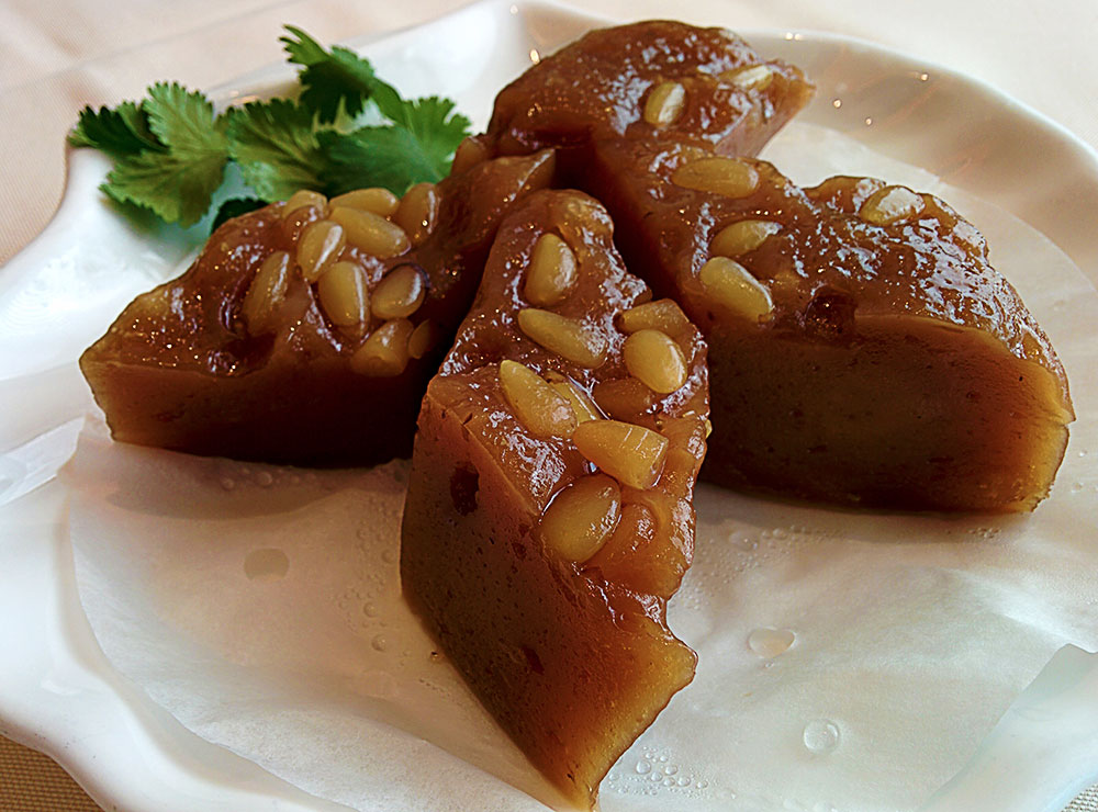 Mashed Dates Cake at Suhang Restaurant | tryhiddengems.com